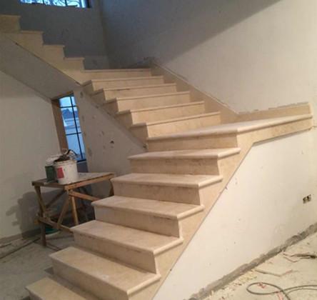 非同石材楼梯踏步安装步骤